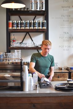 Barista at MONKS Coffee Roasters Amsterdam