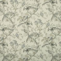 Renaissance Curtain Fabric in Dove|Terrys Fabrics UK