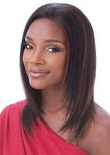 Chic 14Inch Mid-length Straight Lace Front Wig