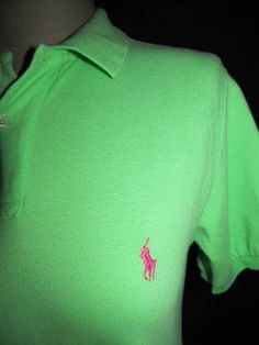5d90f0a4c2b POLO by Ralph Lauren size small lime green pique polo shirt. Classic style  - pink
