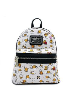 1417424e88e Gudetama Print Faux Leather Mini Backpack
