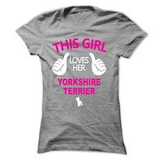 girl loves her yorkshire terrier