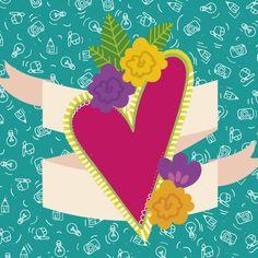 Corazón México Ilustración Diseño gráfico