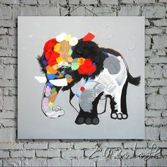 Modern background High quality abstract Elephant Oil Painting on Canvas home wall decoration animal art wall decor paintings Oil Painting Pictures, Cool Paintings, Animal Paintings, Oil Painting Abstract, Abstract Canvas, Canvas Wall Art, Modern Wall Paint, Portrait, Hand Painted