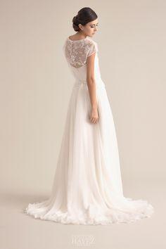 fb498d7fb82d Abito da sposa scivolato con ricamo su tulle e blusa ricamata