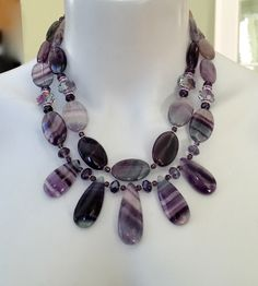 A personal favorite from my Etsy shop https://www.etsy.com/ca/listing/502028194/fluorite-statement-necklace-big-bold