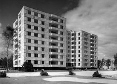 Hansaviertel Apartment House   Berlin, Germany. 1955-57 Architect: Alvar Aalto