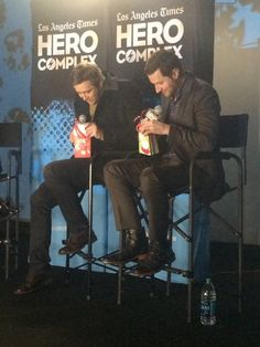 Like a pair of big(giant) kids @leepace and @RCArmitage ( picture curtesy sideshowkat tumblr) love it.