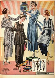 As worn by the everyday woman as illustrated in Sears catalogs: 1920: 1921: 1922: 1923: 1924: 1925: 1926: 1927: 192...