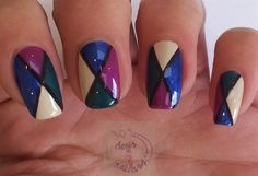 Abstract design with fall colors by daysofnailartnl from Nail Art Gallery