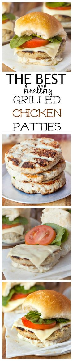 The BEST {healthy!} Grilled Chicken Patties- The most delicious, best chicken pa… The BEST {healthy!} Grilled Chicken Patties- The most delicious, best chicken pa… – All things grilled! High Protein Low Carb, High Protein Recipes, Paleo Recipes, Low Carb Recipes, Cooking Recipes, Grilling Recipes, Drink Recipes, Free Recipes, Healthy Cooking