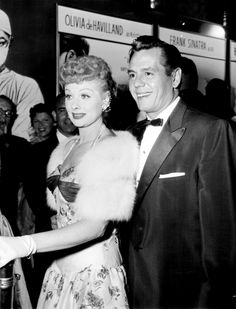 Lucy & Desi at the premiere of Not as a Stranger in Hollywood (1955)
