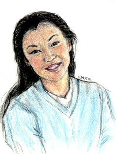 Cho Chang, as she was described in the books. ;)