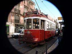 Electric tram, Lisbon, Portugal