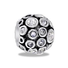 DaVinci Beads CZ Globe Antiqued Jewelry