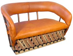 Cushioned Equipale Pigskin Loveseat. Our line of equipale furniture will create a southwest or rustic atmosphere in any room of your home. Free Shipping within the Continental U.S.