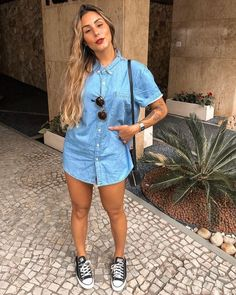 Cool And Casual Summer Outfits Ideas 2019 - Knitters Tumblr Outfits, Girl Outfits, Cute Outfits, Fashion Outfits, Womens Fashion, Fashion Bags, Fashion Ideas, Looks Camisa Jeans, Look Fashion