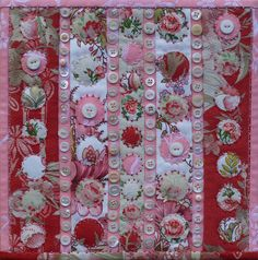 Buttoned Up Journal Quilt | Flickr - Photo Sharing!
