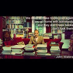 The man himself ... #johnwaters #truestory #readingissexy  #rp @dimijimmy #Padgram