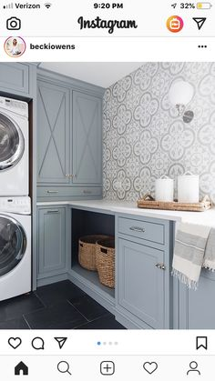 Best Blue Gray Paint Colors These Benjamin Moore Cloudy Sky laundry room cabinets are the perfect example of a blue gray paint colors!These Benjamin Moore Cloudy Sky laundry room cabinets are the perfect example of a blue gray paint colors! Mudroom Laundry Room, Laundry Room Remodel, Laundry Room Cabinets, Laundry Room Design, Laundry Room Colors, Diy Cupboards, Colorful Laundry Rooms, Mudrooms With Laundry, Bathroom Laundry