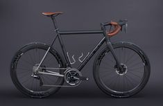 Busyman Bicycles custom leatherwork for a GTR, Matte Avon Black, Avon Black, Lava Grey, ORBIS Road Cycling, Cycling Bikes, Titanium Road Bike, Bicycle Painting, Road Bikes, Bike Life, Custom Paint, Steel, Freedom