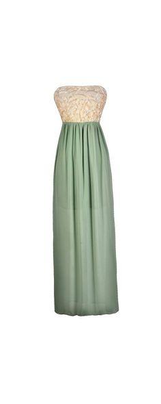 Vanilla Sage Maxi Dress  www.lilyboutique.com