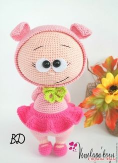 Doll With Costume Pig Stuffed Toy Pattern - (ONLY CLOTHES) Doll Boy Steve, amigurumi crochet doll, crochet doll pattern, amugurumi pattern, pdf pattern Crochet Dolls Free Patterns, Crochet Doll Pattern, Amigurumi Patterns, Amigurumi Doll, Doll Patterns, Amigurumi Tutorial, Cute Crochet, Crochet Toys, Pig Costumes