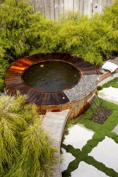 crazy pretty. nicely infused with plants.  Hottub Design Ideas, Pictures, Remodel, and Decor - page 5
