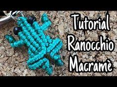 Tutorial Ranocchio Rana Frog Macramè - YouTube Jewelry Knots, Macrame Jewelry, Macrame Earrings, Celtic Knots Diy, Macrame Wall Hanging Diy, Micro Macramé, Bracelet Crafts, Macrame Projects, Macrame Patterns