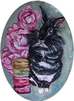 I want Candy Limited Edition Archival Print of by KimAnnabella, €10.00 Art Reproduction Painting Irregular choice shoe rose pink rose pink rabbit bunny black rabbit alternative pastel goth hipster marie antoinette princess  Materials    Paint canvas acrylic paint oil paint archival paper print cello mount