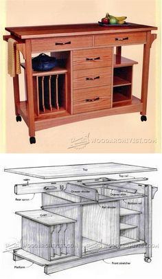 Kitchen Work Station Plans - Furniture Plans and Projects | WoodArchivist.com