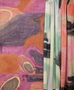 "Porter Teleo pattern, ""Silk Scarf"" on silk."