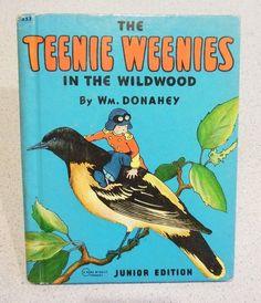 "Vintage 1940 Edition Teenie Weenies ""In the Wildwood"" Children's Book"