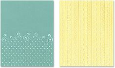 #afflink Amazon.com Sizzix Textured Impressions Embossing Folders 2PK - Flourish, Dots & Ribbon Set by Rachael Bright