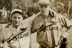 This historic photograph shows baseball players Pepper Martin and Dizzy Dean of the St. Louis Cardinals, ca. It's part of the Sports Collection at the Missouri Historical Society, St. St Louis Baseball, St Louis Cardinals Baseball, Stl Cardinals, Baseball Uniforms, Baseball Players, Baseball Cards, Mlb Uniforms, Baseball Pics, Baseball Mom