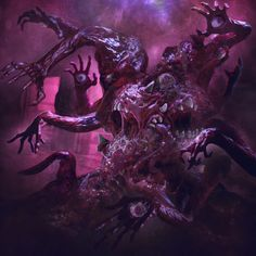 Diemension Games is raising funds for Deep Madness on Kickstarter! A co-operative game for players with amazingly detailed miniatures, depicting a sci-fi horror world inspired by Lovecraft's work. Weird Creatures, Fantasy Creatures, Mythical Creatures, Arte Horror, Horror Art, Cthulhu, Apocalypse Now, Cool Monsters, Dnd Monsters