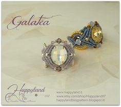 Galatea  macramè ring by Happyland87 on Etsy, $9.00