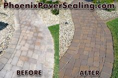 Paver Sealing Before U0026 After Photo Of Paver Cleaning And Sealing Services  In Phoenix, AZ
