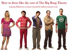 how to dress like big bang theory characters