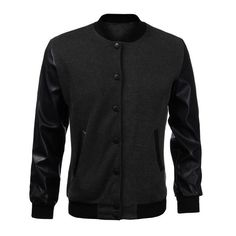 2016 New Winter Jacket Men Fashion Bomber Jacket Coats Leather Sleeve Outerwear Male Casual Sweatshirt Hoodie Baseball Jacket