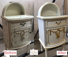 Noptieră Ludovic before&after care face parte dintr-un dormitor complet vechi de 200 ani.   #dormitorludovic #foitaaur #restaurare #savemob Nightstand, Furniture, Home Decor, Decoration Home, Room Decor, Night Stand, Home Furnishings, Home Interior Design, Bedside Cabinet