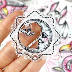 'Night Friends' Brooch - Creep Heart by Ella Mobbs