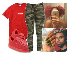 """❤️⛽️"" by justsamadhi ❤ liked on Polyvore featuring Champion and Puma"
