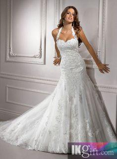 I like this - Gorgeous Mermaid Halter Floor Length Lace Wedding Dress. Do you think I should buy it?