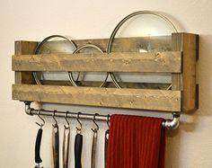 Industrial Pot Rack Utensil Holder Towel Bar by RusticModernDecor