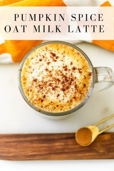 Sip this pumpkin spice oat milk latte all fall long and enjoy a no sugar added, dairy free version of our favorite autumn drink! Starbucks Pumpkin Bread, Homemade Pumpkin Spice Latte, Pumpkin Spiced Latte Recipe, Pumpkin Spice Syrup, Pumpkin Spice Coffee, Spiced Coffee, Pumpkin Recipes, Milk Recipes, Coffee Recipes