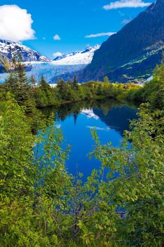 Lake near Mendenhall Glacier Juneau, Alaska. I want to go see this place one day. Please check out my website thanks. www.photopix.co.nz