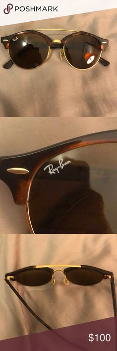 700a11a4804f RayBan sunglasses - Clubround Double Bridge, Color: tortoise. Perfect  condition. Ray-