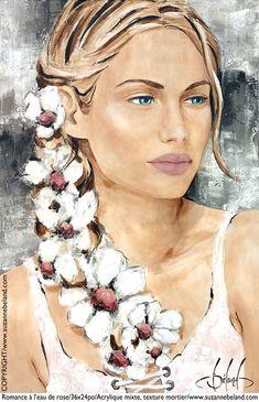 Suzanne Béland, artiste peintre - index Art Sketches, Art Drawings, Art Visage, L'art Du Portrait, Devian Art, Hippie Art, Human Art, Angel Art, Pictures To Paint