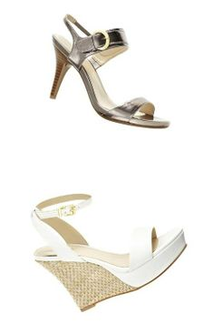 b415a9b4c56a  liz claiborne carly pewter sandals and anya wedges